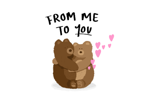 Virtual hug card