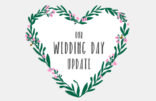 Wedding day update card